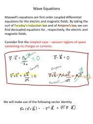 Wave Equations