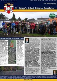 St. George's School Cologne Newsletter - Plant-for-the-Planet