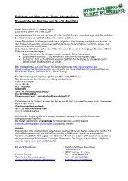 Einladung zum Plant-for-the-Planet Jahrestreffen in Possenhofen ...