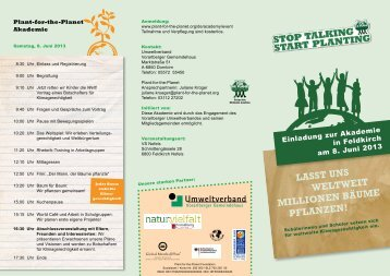 Einladung zur Akademie in Feldkirch am 8. Juni 2013 - Plant-for-the ...