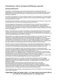 """Pressemitteilung - Initiative """"Energiewende ER(H)langen"""" gegründet ..."""