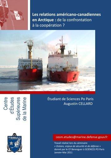 Les relations américano-canadiennes en Arctique - CESM
