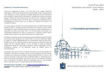 Programme colloque CESM