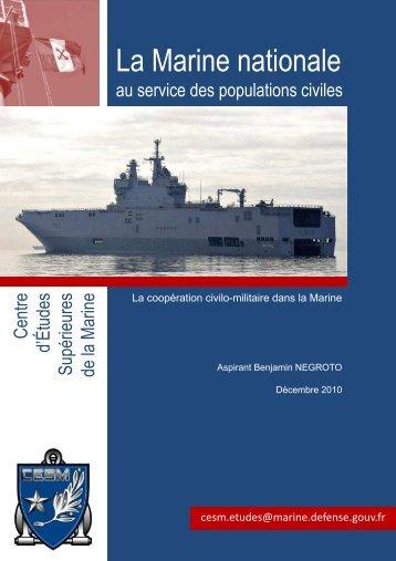 La coopération civilo-militaire dans la Marine - CESM - Ministère de ...