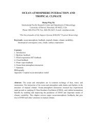 ocean-atmosphere interaction and tropical climate - CiteSeerX