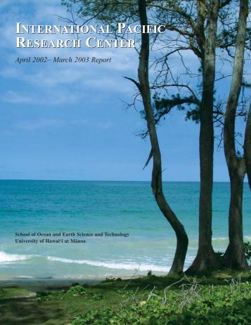 Annual Report 2003 - International Pacific Research Center