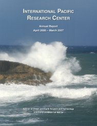 Annual Report 2007 - International Pacific Research Center