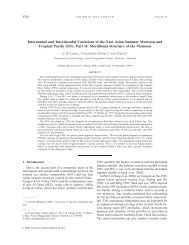 Interannual and Interdecadal Variations of the East Asian Summer ...