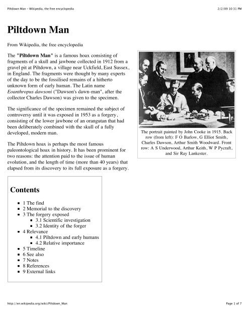 Piltdown Man Wikipedia, the free encyclopedia