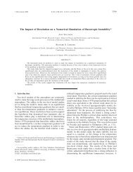 The Impact of Resolution on a Numerical Simulation of Barotropic ...