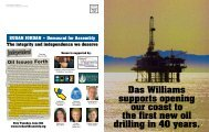 Das Williams supports opening our coast to the first new oil drilling ...