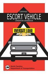 Escort Vehicle Operations Manual - Connect NCDOT - North ...