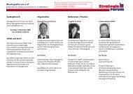 SundayBrunch Inhalt und Form Organisation Referenten ... - AP-DOK