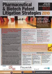 Pharmaceutical & Biotech Patent Litigation Strategies2010 - Basenet