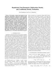 Regularized Non-Parametric Multivariate Density and ... - ISAS - KIT
