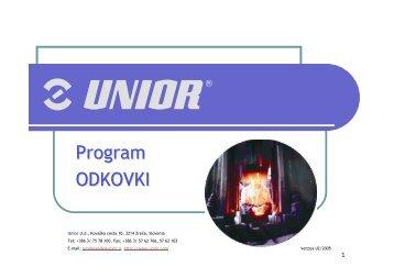 Program ODKOVKI - Unior