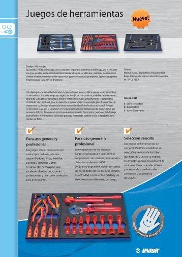 12 Juegos de herramientas - Unior