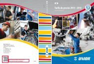 Tarifa de precios 2013 - 2014 - Unior