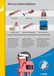 6 Alat za vodoinstalatere - Unior