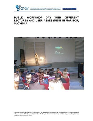 public workshop day with different lectures and user assessment