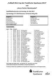 """""""Fußball-Mini-Cup der Frankfurter Sparkasse 2013"""""""