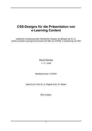 CSS-Designs für die Präsentation von e-Learning Content - Oxygen ...