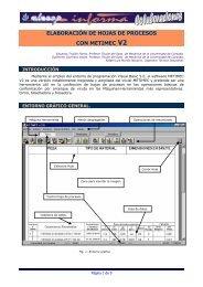 elaboraciìn de hojas de procesos con metimec v2 - Webgarden