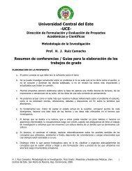 Universidad Central del Este -UCE- - Webgarden