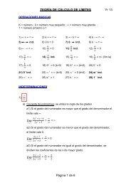 (Teoría de cálculo de límites) - Webgarden