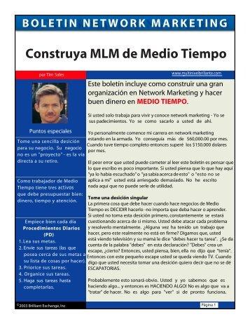 Construya MLM de Medio Tiempo - Webgarden