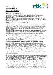 D i e r o l f Rechtsanwälte AG Newsletter 09/2011 - rtk-deutschland.de