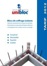 Unibloc - Catalogue piscine en kit Unipool piscines et Fitness ...