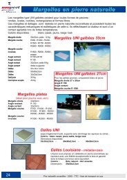 Margelles en pierre naturelle - Catalogue piscine en kit Unipool ...