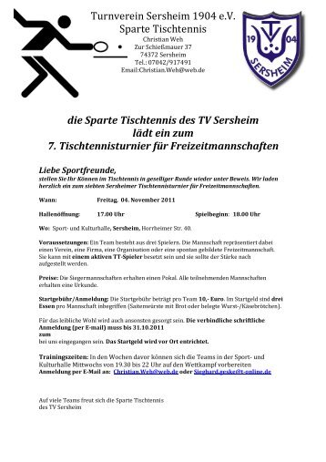 Flyer als PDF - Turnverein Sersheim 1904 eV