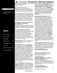 Newsletter Spring Updates - OhioDance
