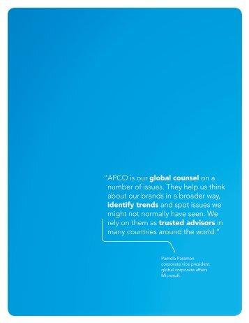 Microsoft Unlimited Potential - APCO Worldwide