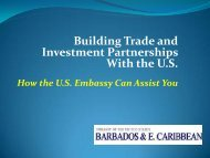Building Trade and - Embassy of the United States Barbados & the ...