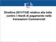 Direttiva 2011/7/UE relativa alla lotta contro i ritardi di ... - Iusletter