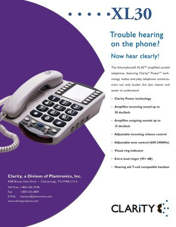 Trouble hearing on the phone? - Clarity Products