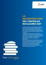 LA DECONSTRUCTION DES CENTRALES ... - Energie EDF