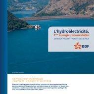 Plaquette Durance Verdon - Energie EDF