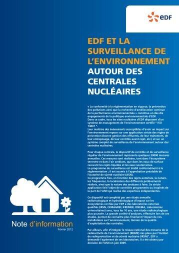 NOTE ENVIRO 2012 - Energie EDF