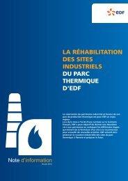 La réhabilitation des sites industriels du parc ... - Energie EDF