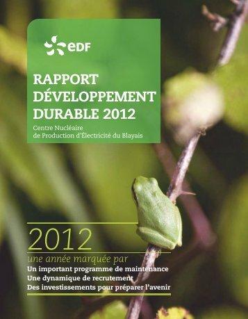 Rapport Développement Durable 2013 (10,2 Mo) - Energie EDF