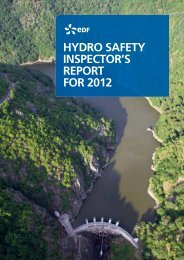 Hydro Safety InSpector'S report for 2012 - Energie EDF