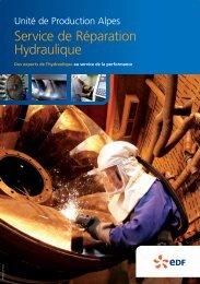 Service de Réparation Hydraulique - Energie EDF