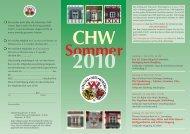 Sommerprogramm 2010 - Colloquium Historicum Wirsbergense