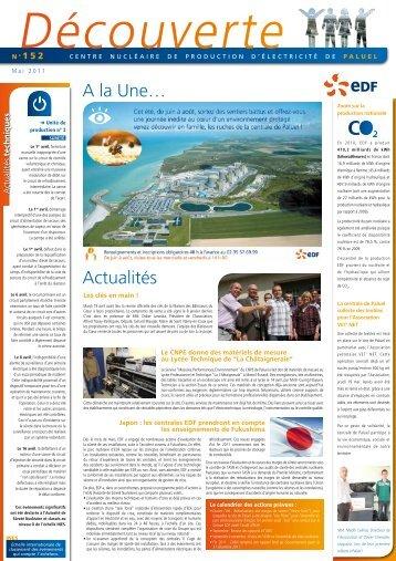 A la Une… Actualités - Energie EDF