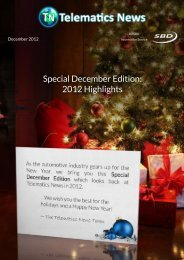Special December Edition: 2012 Highlights - Telematics News