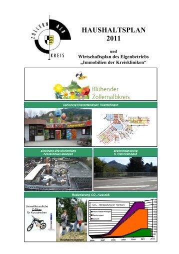 HAUSHALTSPLAN 2011 - Zollernalbkreis